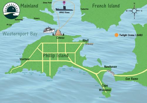 Twilight Bay Cruise Map